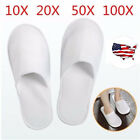 Lot 5/10/20/50/100 Pairs Unisex Hotel Slippers Spa Shoes Disposable