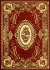 AMAZING GOLD COLLECTION COUNTRY EUROS BORGUNDY CARPET RUG