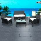 Rattan Garden Furniture Set 4 Piece Chairs Sofa Table Outdoor High Quality Nice