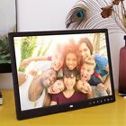 Clock MP4 Multimedia LED Movie Player Digital Photo Frame Touch Buttom US Stock