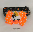 A Little Corny Halloween Dog Collar With Bow Size XS-L by Doogie Couture