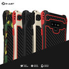 R-JUST Amira Carbon Fiber Full Case For Samsung Galaxy Note 9 Armor Metal Cover