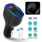 car adapter usb - Qualcomm QC3.0 Quick Charge Adapter 2 USB Port +Type-C Fast Car Charger 5V/3.5A