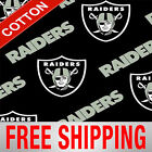 "Oakland Raiders NFL Cotton Fabric - 60"" Wide - Style# 3513 - Free Shipping!! $7.95 USD on eBay"