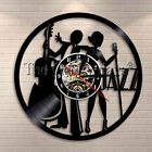 Musicians Jazz Vinyl Record Wall Clock Music Instrucment Classical Home Decor