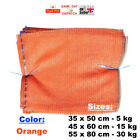 ORANGE RASCHEL BAG SACK FOR: FRUITS VEGETABLES WOOD LOGS CARROT ONION POTATO MES