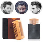 Portable Beard Comb Mustaches Brush Fine Coarse Teeth Double Side Pocket Size~