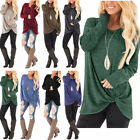 New Womens Tunic Tops Long Sleeve Casual Loose Tops Blouse Fashion Shirt T-Shirt