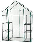 New Walk In Greenhouse PVC Plastic Garden Grow Green House with 6 or 8 Shelves