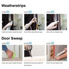 Evelots Anti-Collision Self-Adhesive Weather Strip Door & Window Seal, D Type T