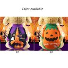 Pet Holiday Halloween Pumpkin Pet Clothes Dog Sweater Puppy Kitten  Dogs New