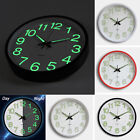 12'' Analog Non Ticking Glow In The Dark Silent Wall Clock Quartz Home Decor