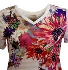 Women's Floral Top-V-Neck -by White Stag, sublimation -flowers  -NEW .