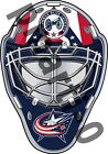 Columbus Blue Jackets Front Goalie Mask Vinyl Decal / Sticker 5 Sizes!!! $3.99 USD on eBay