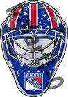 New York Rangers Front Goalie Mask Vinyl Decal / Sticker 5 Sizes!!! $3.99 USD on eBay