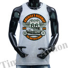 ROUTE 66 AMERICA'S HIGHWAY HOT ROD VINTAGE CLASSIC GRAPHIC TANK TOP