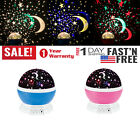 Moon Star Night Light Projector for Kids Baby 360 Degree Rotation Children Party