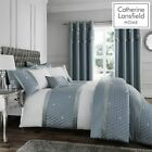 Catherine Lansfield Luxury Sequin Cluster Duck Egg Duvet Cover Set & Accessories