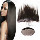 "8-20""Silk Straight Full Lace Frontal Closure Virgin Human Hair 13""x2"" Ear To Ear"
