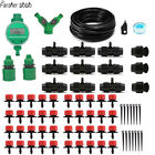 25m Automatic Watering Micro Drip Irrigation Systemwith Adjustable Dripper New