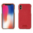 Pierre Cardin For Apple iPhone X XR XS Max Phone Case Bake Cover Genuine Leather
