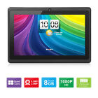 """8/7"""" Android 8.1/4.4 Quad Core HD Tablet 16/8GB Dual Camera Wi-Fi US Seller!"""