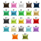 Solid Queen/Standard Silk Satin Pillow Case Bedding Pillowcase Smooth Home NEW C image