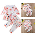 US Newborn Baby Girl Infant Clothes Ruffle Tops Pants Kids Outfits Set Tracksuit