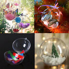 Внешний вид - Clear Plastic Craft Ball Acrylic Transparent Sphere Bauble Christmas Baubles