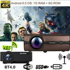Kyпить 4K 3D WiFi 1080P HD Smart LCD LED Projector Android BT Wireless Home Theater 8GB на еВаy.соm