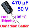 5pcs 470uF 50V 12.5x20mm 105 °C Nichicon VZ For PC TV AUDIO VIDEO TFT ACL LCD