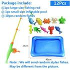 Children Fishing Toy Set Suit Magnetic Play Baby Toys Fish Square Christmas Gift