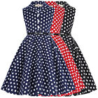 Dress Princess Prom Cocktail Dots Birthday Retro Girls Kids