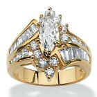 Elegant Women Gold Silver Plated Rings Simulated Zircon Ring Wedding Gift Rings