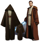 Halloween Christmas Cosplay Star Wars Jedi Obi-wan Costume Black or Brown