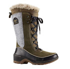 NIB Women's Sorel Tivoli III High Waterproof Winter Boots in Nori, Black
