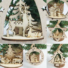 Home Christmas Tree Decoration 3d Wooden Pendant Hanging Party Home Diy Ornament