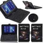"""For Samsung Galaxy 7"""" 8"""" 10.1"""" Tablet PU Leather Stand Cover Case with Keyboard"""