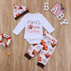 USA Stock Infant Baby Boys Girls Romper Thanksgiving Clothes Set Playsuit Outfit