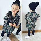 US Stock Camouflage Dinosaur Hooded Kids Baby Boys Clothes Zipper Hoodie Jackets