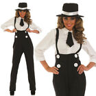 Ladies Gangster Fancy Dress Costume 4pc Outfit 1920s Moll Hen Night UK 8-26