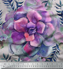 Soimoi Fabric Leaves & Begonia Floral Printed Craft Fabric by the Yard - FL-698H