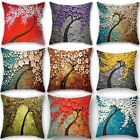 Linen Cotton Painting Throw Pillow Sofa Car Cushion Case Cover Home Decoration