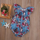 0-24M Infant Baby Girls Floral Romper Bodysuit Jumpsuit Star Wars Outfit Clothes