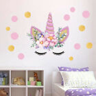 Us Stock Unicorn Wall Stickers Pvc Bedroom Removable Home Room Decor Mural Art