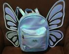 JUSTICE BUTTERFLY WINGS BLUE IRIDESCENT MINI BACKPACK SUPER CUTE