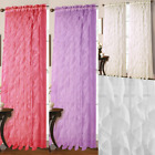 "1PC CASCADING VOILE SHEER WINDOW WATERFALL CURTAIN PANEL 55""WIDE X 84""LONG"