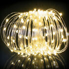 Warm White/ RGB 10M/20M Solar LED String Copper Wire Fairy Lights Garden Party