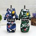 Camouflage Sweater Pet Dog Clothes Handsome Dogbaby Camouflage Style Sweater E