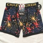 Patriotic Men's Boxer Briefs Size S, L, 4th of July, Fireworks Crazy Underwear